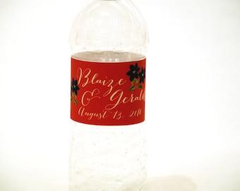 Water Bottle Labels For Wedding Favors, Wedding Water Bottle Labels, Custom Waterproof Labels For Bottles, Personalized Bottle Labels