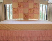 FREE SHIPPING***Shabby Chic Crib Bedding, Pink, Toille, Ivory, floral,CUSTOM, Crib Blanket, Crib Skirt, and Fitted Sheet