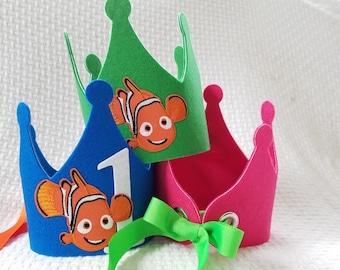 Nemo Birthday Crown - Finding Nemo Party Hat - Nemo Party Decorations