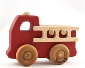 Personalized Toy Fire Truck - Classic Wooden Toy Fire Engine - Waldorf Inspired Firetruck