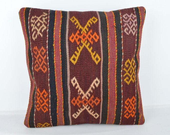 Wool Pillow, Kilim Pillow, KP1064,  Decorative Pillows, Designer Pillows,  Bohemian Decor, Bohemian Pillow, Accent Pillows, Throw Pillows