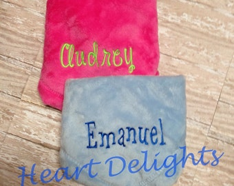 Monogrammed Blankies Personalized Baby Blankie Infants Baby Boy Baby Girl Gift Free personalization