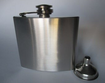 5oz Blank Stainless Steel flask with Funnel