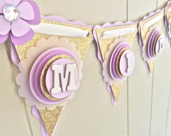 Gold Baby Shower, Purple Baby Shower Banner, Girl Baby Shower, Purple and Gold Baby Shower, Custom Baby Shower Banner - Made to Order