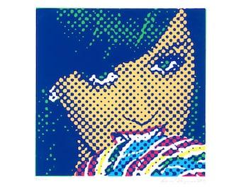 Katy Perry portrait silkscreen print