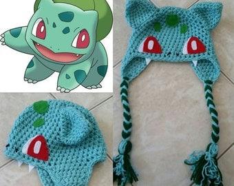 Crochet Bulbasaur Beanie/Hat