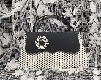 gift card and money holder Black & White purse