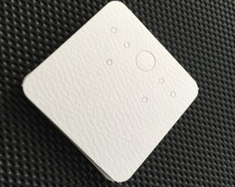 Blank White Earring Paper Card for Jewelry and Accessories..200pcs(Medium)
