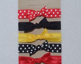 Mickey Elastic Hair Tie Set of 5