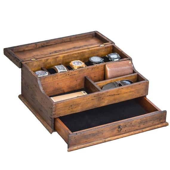 Like this item?  sc 1 st  Etsy & Menu0027s Valet Watch Case Menu0027s Watch Box Valet Box Aboutintivar.Com