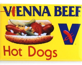 Hot Dog Sign Fridge Magnet