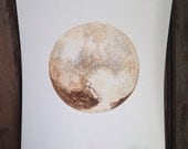 Pluto - 9x12 Watercolor Painting on Paper