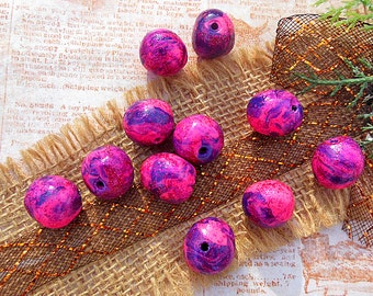 Multi Colored Beads, Pink and Purple, Clay Beads, Polymer Clay Jewelry, Jewelry Supplies, Beading Supplies, Craft Beads, Sparkle Beads