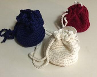 Crochet Pouch (Navy)