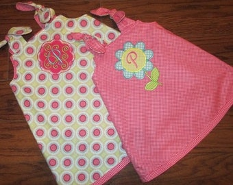Reversible Little Girl Jumper with Monogram