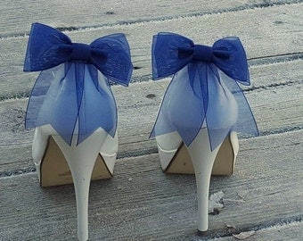 Shoe Clips, Wedding Shoe Clips, Bridal Shoe Clips, Organza Shoe Clips, Bridal Accessories,Champagne Shoe CLips, Shoe Clips Only