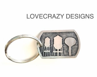 Water towers key chain