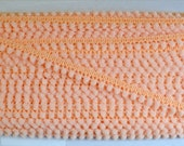 "Peach Mini Ball Fringe Trim. 1/2"" Width. 3 Yards."