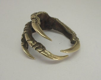 Raven Claw Ring in Brass,  Magpie