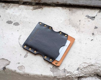 Leather Micro Wallet / Leather Billfold / Premium Italian Leather / gift for her / gift for him