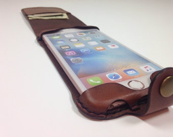 iPhone 6(s) Plus Leather Wallet Flip Top Case - No Plastic - Ready to Ship