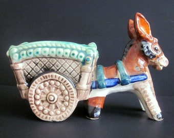 Vintage Donkey Cart Planter