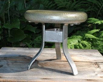 Farmhouse - Industrial Stool - 3 Leg Stool - Rustic Stool - Iron and Wood Stool - Sturdy Stool - Milking Stool - Industrial Chic - Salvage