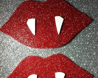 15% OFF SALE Rave wear Vampire fangs lips mouth pasties