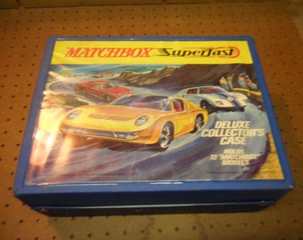 Vintage 1970s Matchbox SuperFast Carry Case   for matchbox and hotwheels cars