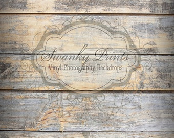 PRODUCT SIZE 2ft x 3ft Vinyl Photography Backdrop / Timeworn Gray Floor