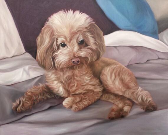 CUSTOM PET PORTRAIT - Pet Painting - Oil Painting - Unique Gift - Dog Portrait - 16x20