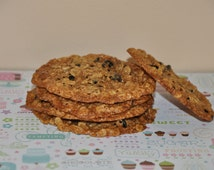 12 Double Oatmeal  Raisins Cookies  Fresh  Healthy  Edible Gift !!! Wheat Free