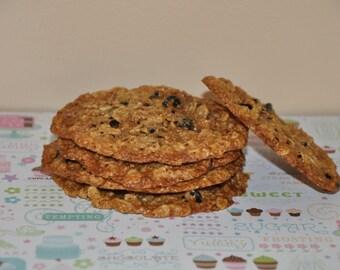 12 Double Oatmeal  Raisins Cookies  Fresh  Healthy  Edible Gift !!! Wheat Free