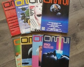Vintage OMNI Magazine Lot of 8 From 1970s and 1980s For Computer Nerd Geeks