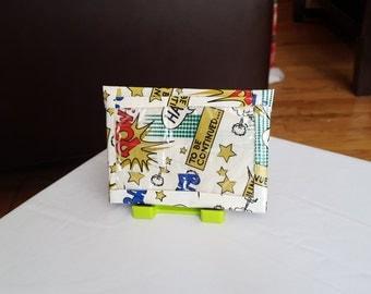 """Duck Tape Micro Wallet - """"Comics"""""""