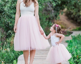 Mommy and me tulle skirt outfit, matching mommy and me tutus, full  tutu skirts
