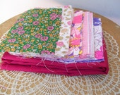 "39 QUILT SQUARES + FABRIC Rectangle 4""x6"" Cotton Scrappy Charm Sew Craft Stash"