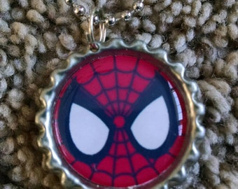 Spiderman Bottle Cap Chain Necklace