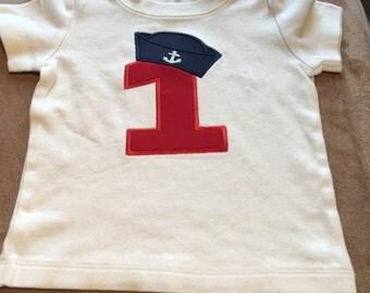 Boy's or Girl's Nautical Themed Birthday Shirt