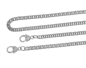 Silver Purse Chain - Antique Silver - Shoulder Cross Body Strap Handel - 47 inches - Ships IMMEDIATELY from California - A497