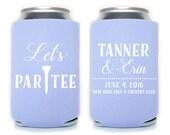 Custom Wedding Favor - Let's Par Tee Golf Themed Can Coolers