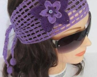 Lavender Headband, Boho Headband, Boho Headbands, Summer Head bands, Summer Headband, Lavender Headbands, Women Headbands