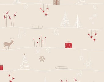 STOF Fabrics by Blank Quilting - Silent Christmas - All Over - Cream