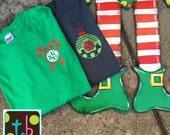 Monogram Personalized Long Sleeve Christmas Tee Tshirt Monogram Ornament Monogram Candy Cane