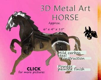 Metal Art Horse, Steel Horse Art