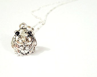Guinea Pig charm necklace cute kitsch animal jewellery