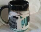 Matthew Adams Pottery Glacier series Alaska Coffee Tea Mug Cup Sascha Brastoff Vintage Snow original artist