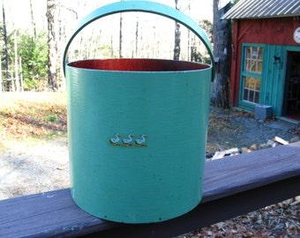Wonderful Green Oak Bentwood Bucket. 1920s