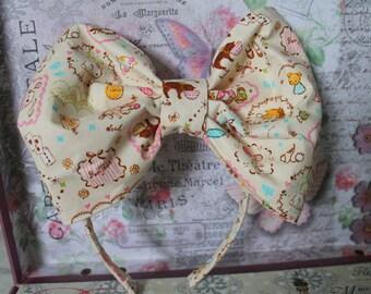 Kawaii Bunny Rabbits Cats Macarons Stripes Gingham Sweet Lolita Head Bow