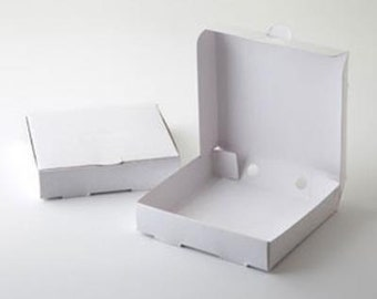 """6 Mini White Pizza Boxes, Gift Box, Food Box, Party Favor, 3.5 x 3.5"""" Great for cookies, Wedding favors"""